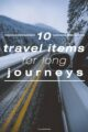 travel items for a long journey