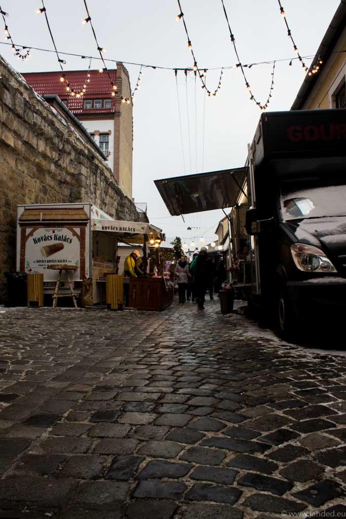 christmas street food festival winter