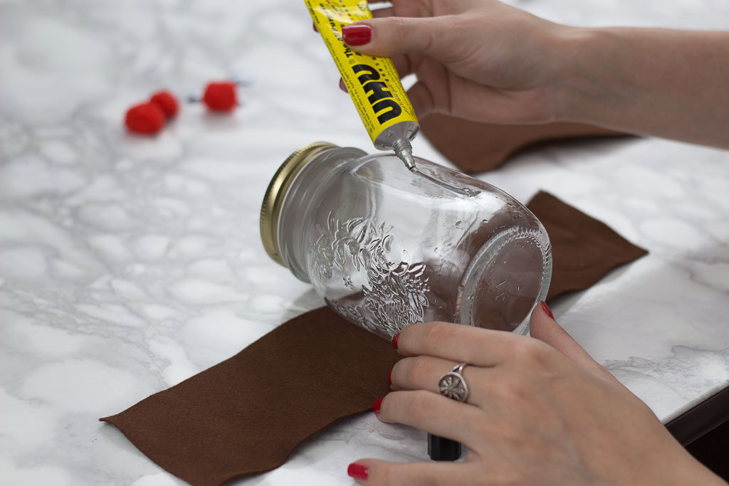how to make a reindeer jar for christmas