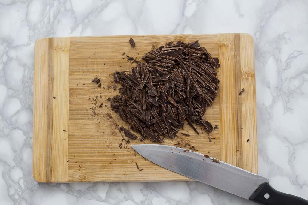chopped dark chocolate for hot chocolate