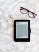 kindle flat lay